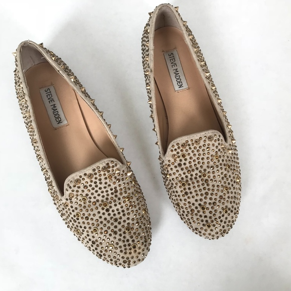 oficial de ventas calientes reputación confiable zapatos exclusivos Steve Madden Shoes | Steven Madden Granite Gold Spiked Loafers ...